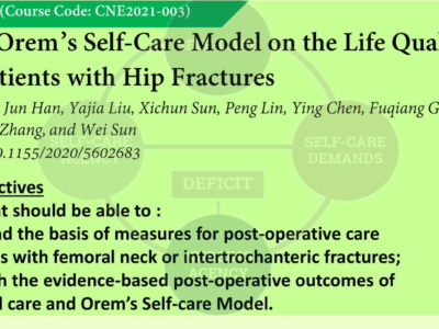 Effects of Orem's Self-Care Model on the Life Quality of Elderly Patients with Hip Fractures